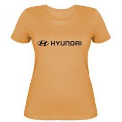 Женская футболка Hyundai 2 - FatLine