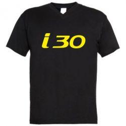 Мужская футболка  с V-образным вырезом HYUNDAI i30 - FatLine