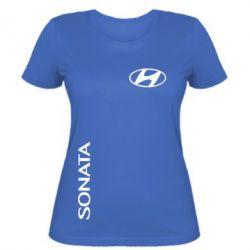 Женская футболка Hyundai Sonata - FatLine
