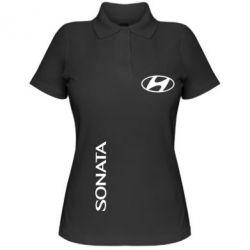Женская футболка поло Hyundai Sonata - FatLine