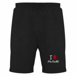 Мужские шорты I love Anime - FatLine