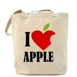 СумкаI love APPLE