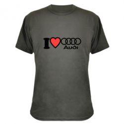 Камуфляжная футболка I love audi - FatLine