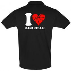 Футболка Поло I love basketball - FatLine