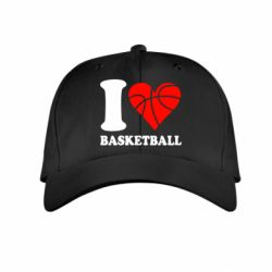 Детская кепка I love basketball - FatLine