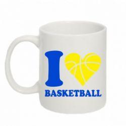 Кружка 320ml I love basketball - FatLine