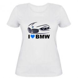 Женская футболка I love BMW 2 - FatLine