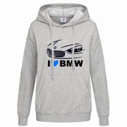 Женская толстовка I love BMW 2 - FatLine