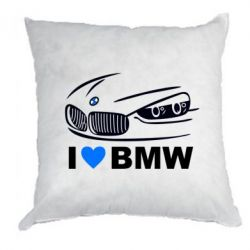 Подушка I love BMW 2 - FatLine