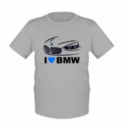 Детская футболка I love BMW 2 - FatLine