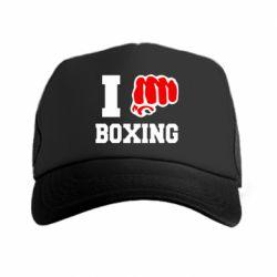 Кепка-тракер I love boxing - FatLine