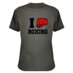 Камуфляжная футболка I love boxing - FatLine