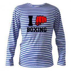 Тельняшка с длинным рукавом I love boxing - FatLine