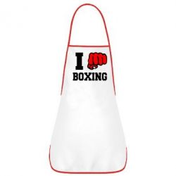Фартук I love boxing - FatLine