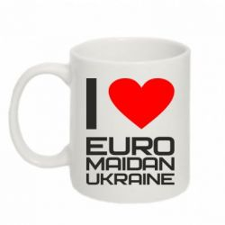 Кружка 320ml I love Euromaydan Ukraine - FatLine