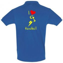 Футболка Поло I love handball 2 - FatLine