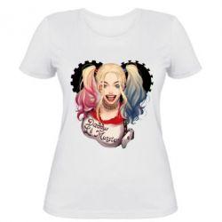 Женская футболка I love Harley Quinn - FatLine