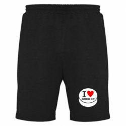Мужские шорты I love hockey - FatLine