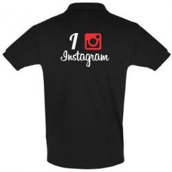Футболка Поло I love Instagram - FatLine