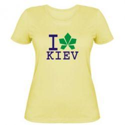 Женская футболка I love Kiev - с листиком - FatLine
