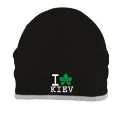 Шапка I love Kiev - с листиком - FatLine