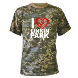 Камуфляжная футболка I love LP