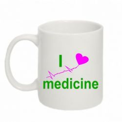 Кружка 320ml I love medicine - FatLine