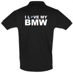 Футболка Поло I love my BMW - FatLine