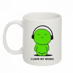 Кружка 320ml I love my music - FatLine