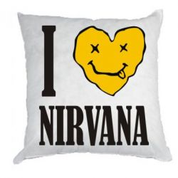 Подушка I love Nirvana - FatLine
