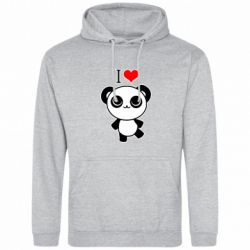 Толстовка I love Panda - FatLine