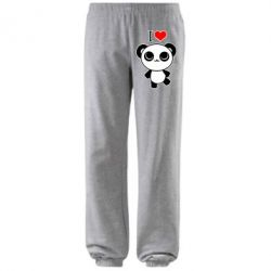 Штаны I love Panda - FatLine