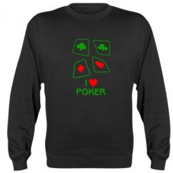 Реглан I love poker - FatLine