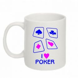 Кружка 320ml I love poker - FatLine