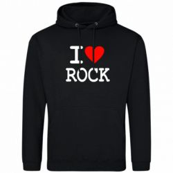 Толстовка I love rock - FatLine