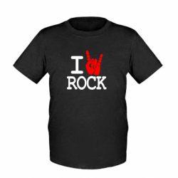Детская футболка I love rock - FatLine