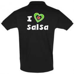 Футболка Поло I love Salsa - FatLine