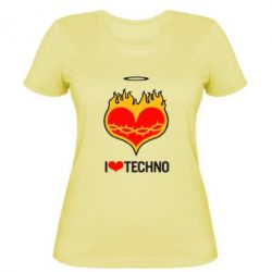 ������� �������� I love Techno logo - FatLine