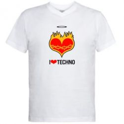 ������� ��������  � V-�������� ������� I love Techno logo - FatLine