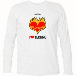 �������� � ������� ������� I love Techno logo - FatLine