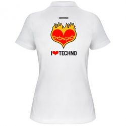 ������� �������� ���� I love Techno logo - FatLine
