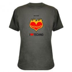����������� �������� I love Techno logo - FatLine