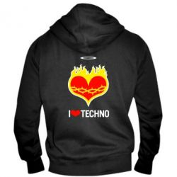 ������� ��������� �� ������ I love Techno logo - FatLine