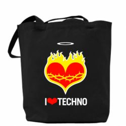 ����� I love Techno logo - FatLine