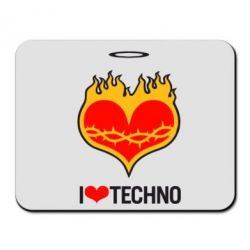 ������ ��� ���� I love Techno logo - FatLine