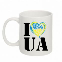 Кружка 320ml I love UA (з серцем) - FatLine