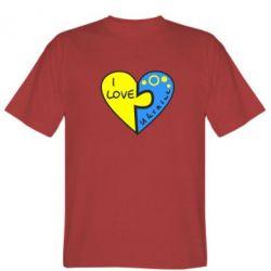 Мужская футболка I love Ukraine пазлы - FatLine