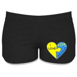 Женские шорты I love Ukraine пазлы - FatLine