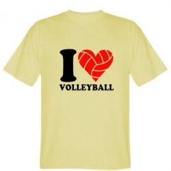 Мужская футболка I love volleyball - FatLine