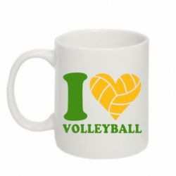 Кружка 320ml I love volleyball - FatLine